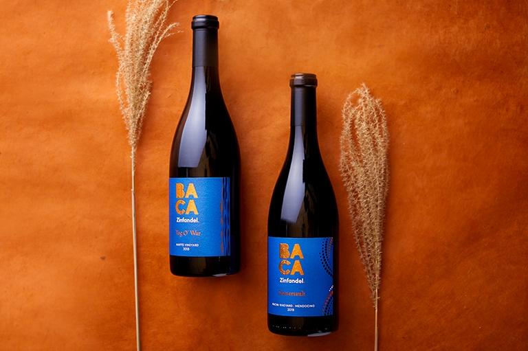 BACA Members 3rd Quarter 2021 Club wines: 2019 Tug 'O War Zinfandel & 2019 Sommersault Zinfandel wine bottles image