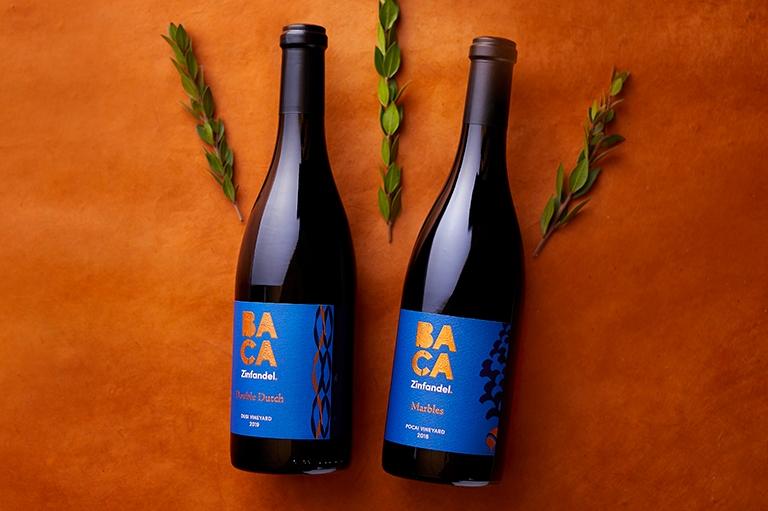 BACA Members 2nd Quarter 2021 Club wines: 2019 Double Dutch Zinfandel & 2019 Marbles Zinfandel wine bottles image