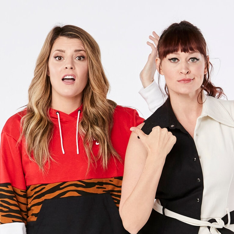 This Might get Weird Podcast hosts, Grace & Mariea photo image of both women