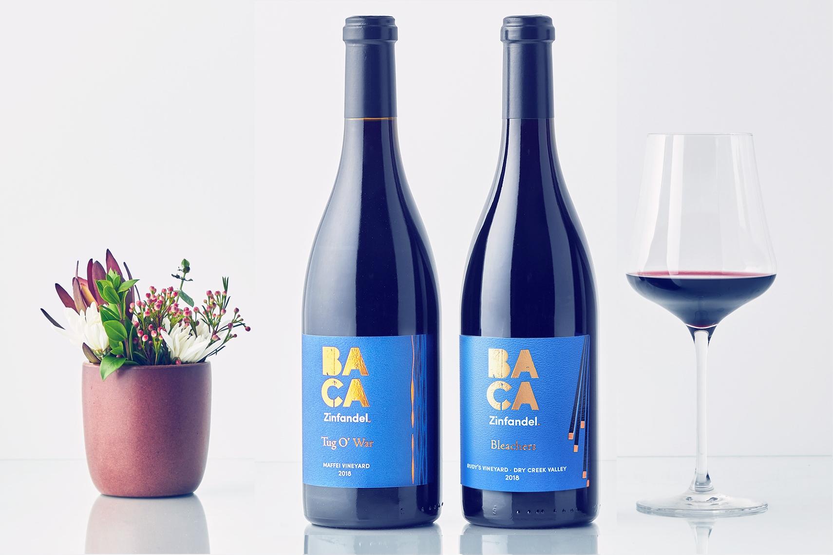 BACA Members 3Rd Quarter 2020 Club Shipment image of two bottles of BACA Zinfandel