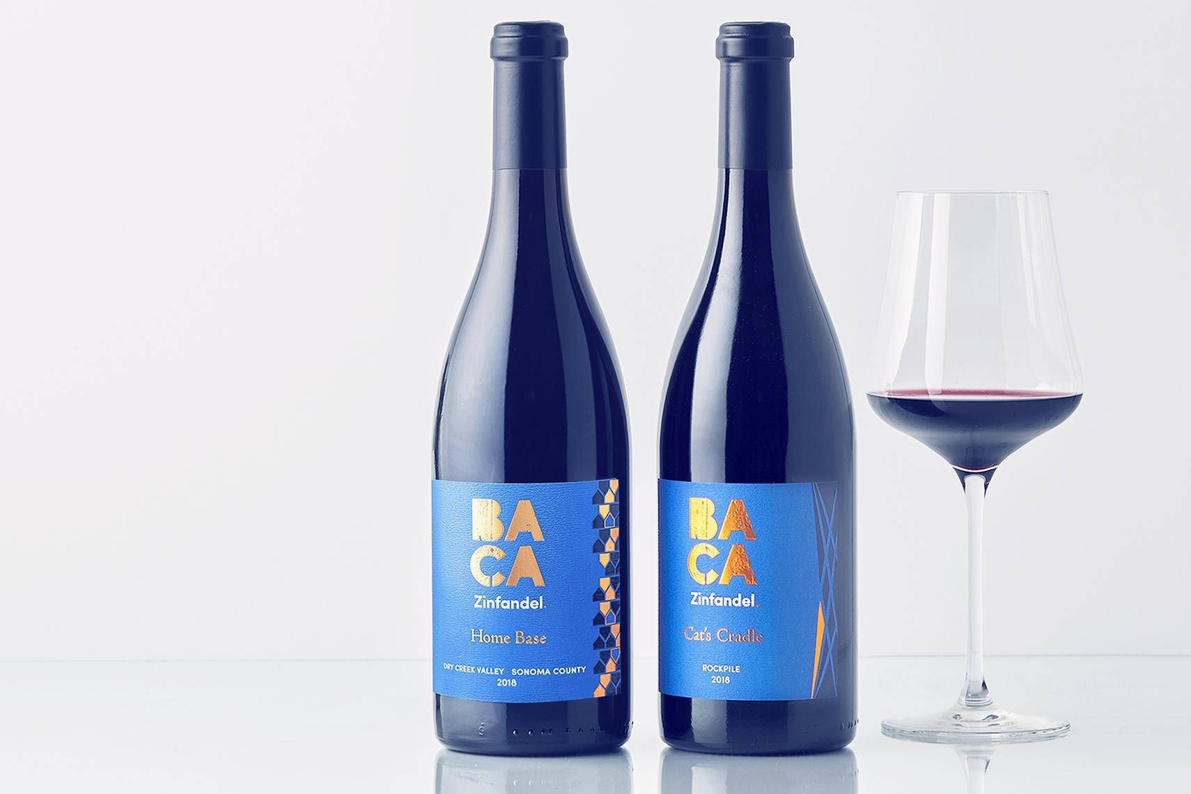 BACA Members 4th Quarter 2020 Club Shipment image of two bottles of BACA Zinfandel