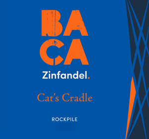 BACA Cat's Cradle Rockpile Zinfandel Front Wine Label Image