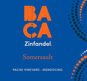 BACA Somersault Zinfandel Front Wine Label Image