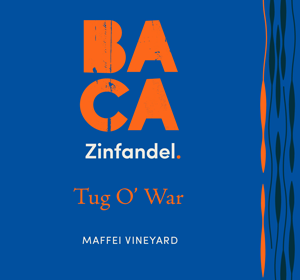 BACA Tug O' War Maffei Vineyard Zinfandel Front Wine Label Image